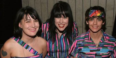 NEW YORK - APRIL 28:  Kathleen Hanna, Johanna Fateman, and JD Samson of Le Tigre attend the WEDrock Concert For Freedom To Marry at Crobar on April 28, 2004 in New York City. (Photo by Thos Robinson/Getty Images)